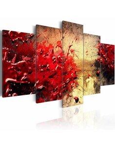 Tableau - 5 tableaux - Rouge sang - par Artgeist