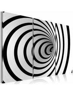 Tableau Triptyque - Black & white wires mixed up - par Artgeist