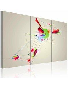 Tableau Triptyque - Formes et couleurs Abstractions Artgeist
