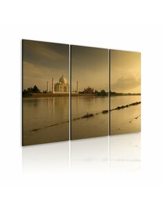 Tableau Triptyque - Charme de l'Orient Taj Mahal Artgeist
