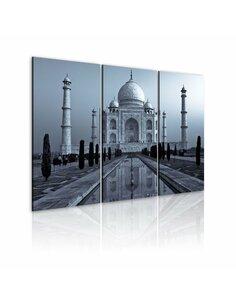 Tableau Triptyque - Taj Mahaj by night, India Taj Mahal Artgeist