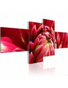 Tableau - 4 tableaux - Dahlia fleurit - par Artgeist