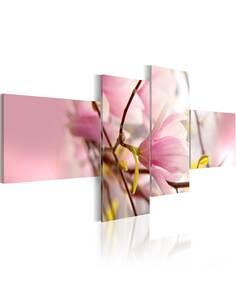 Tableau - 4 tableaux - Branche du magnolia - par Artgeist