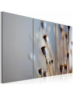 Tableau Triptyque - Fleurs sauvages en automne - par Artgeist