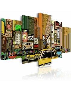 Tableau RUES DE NEW YORK DANS LA B. D. - par Artgeist