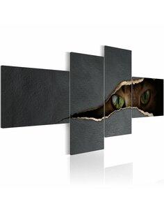 Tableau - 4 tableaux - Les yeux du chat - par Artgeist
