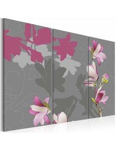 Tableau Triptyque - Ébauche du magnolia - par Artgeist