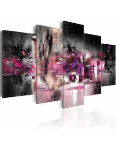 Tableau - 5 tableaux - Papillon et abstraction - par Artgeist