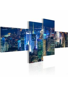 Tableau NEW YORK EN COULEUR INDIGO - par Artgeist