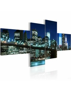 Tableau - 4 tableaux - Brooklyn Bridge New York Artgeist