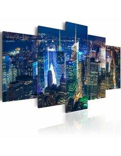 Tableau DANS LE CENTRE DE LA VIE NOCTURNE NEW YORK - par Artgeist