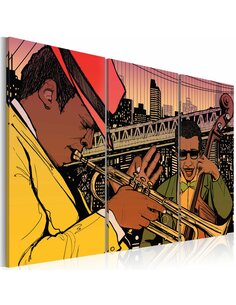 Tableau Triptyque - New York, capitale du jazz - par Artgeist