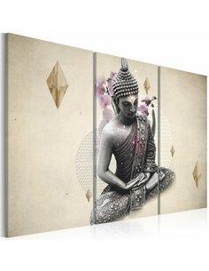 Tableau Triptyque - Bouddha - vue de dessus Zen Artgeist