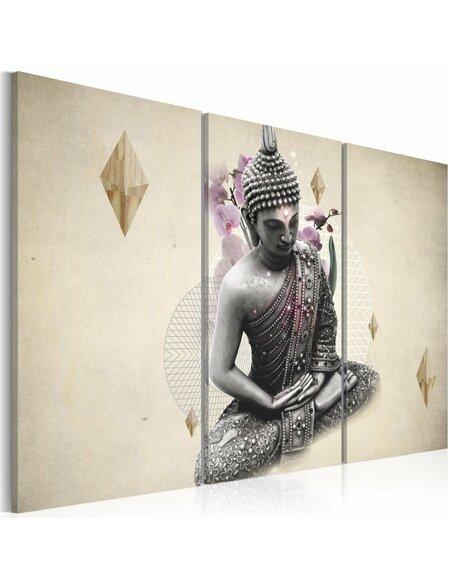 Tableau Triptyque - Bouddha - vue de dessus - par Artgeist