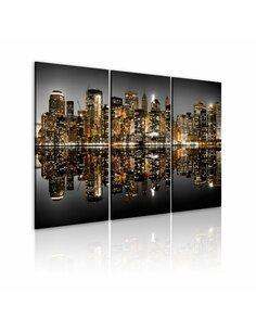 Tableau Triptyque - Mer de lumières - New York New York Artgeist