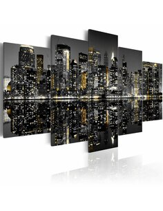 Tableau - 5 tableaux - Vie fascinante de la nuit à New York - par Artgeist