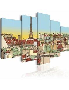 Tableau IMAGE IDYLLIQUE DE PARIS - par Artgeist