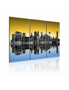 Tableau NYC DANS LE MIROIR Triptyque - par Artgeist