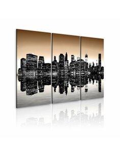 Tableau NEW YORK QUI SE NOIE - par Artgeist