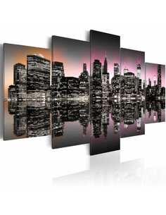 Tableau - 5 tableaux - La ville qui ne dort jamais - New York - 5 pièces - par Artgeist