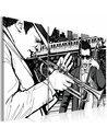 Tableau CONCERT DE JAZZ SUR FOND DE GRATTE-CIELS DE NEW YORK - par Artgeist