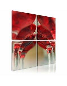 Tableau - 4 tableaux - Summer wine - par Artgeist