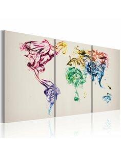Tableau Carte Du Monde Abstraite  Cartes du monde Artgeist