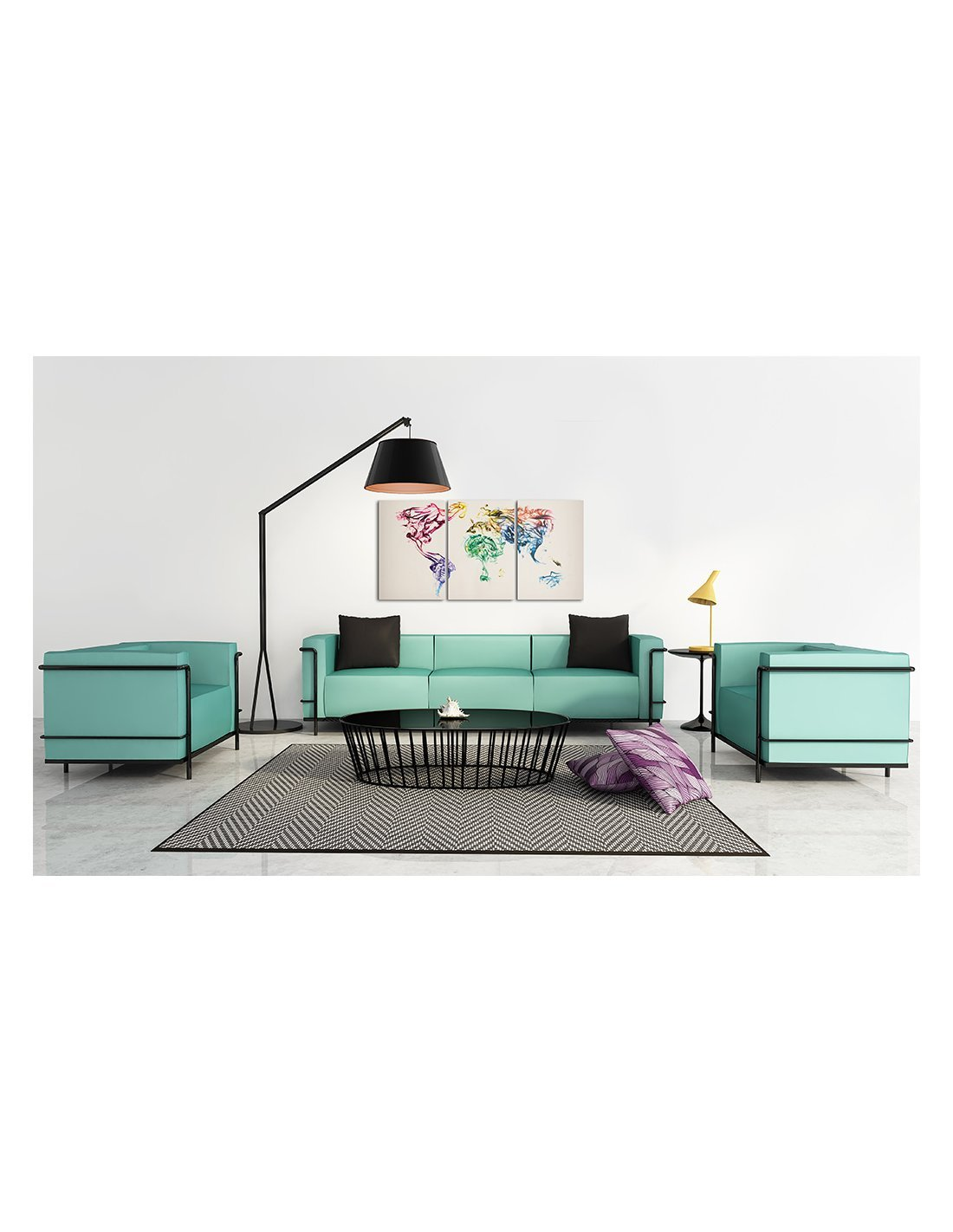 tableau carte du monde abstraite artgeist. Black Bedroom Furniture Sets. Home Design Ideas