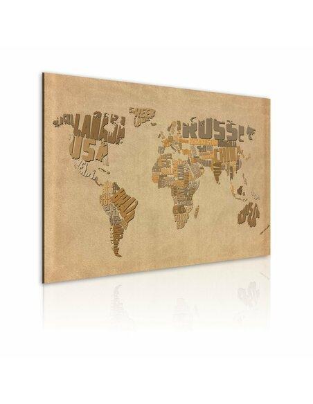 tableau ancienne carte du monde 74 90 chez recollection. Black Bedroom Furniture Sets. Home Design Ideas