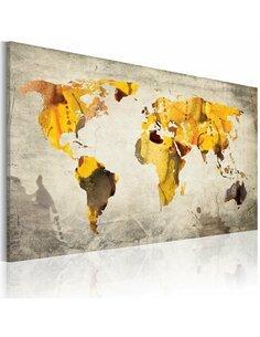 Tableau Continents Ensoleillées  Cartes du monde Artgeist