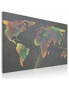 Tableau Monde Enfantin  Cartes du monde Artgeist