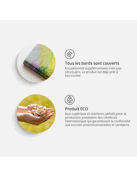 Tableau CARTE MONDIALE EN FUMÉE COLORÉE Triptyque - par Artgeist