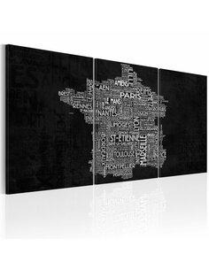 Tableau DE MONTPELLIER À SAINT-ETIENNE en N&B - par Artgeist