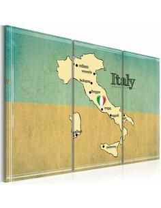 Tableau CŒUR DE L'ITALIE Triptyque - par Artgeist