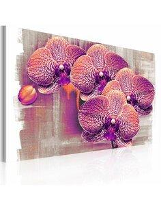 Tableau Triptyque - artistique fleur - par Artgeist