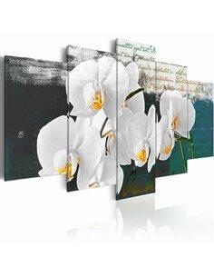 Tableau - 5 tableaux - Eloquence Orchidées Artgeist