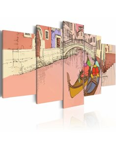 Tableau ROMANTIC GONDOLAS 5 pièces - par Artgeist