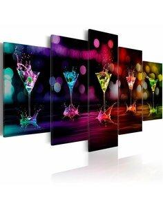 Tableau - 5 tableaux - Boissons colorées - par Artgeist
