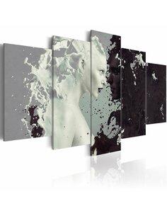 Tableau BLACK OR WHITE? 5 pièces - par Artgeist