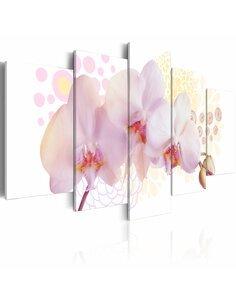 Tableau - 5 tableaux - Orchidée subtile Orchidées Artgeist