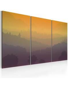 Tableau Triptyque - Sur les collines et loin... - par Artgeist