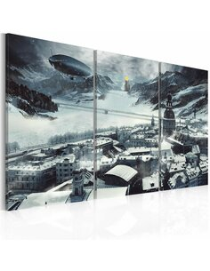 Tableau Triptyque - Le temps d'hiver - par Artgeist
