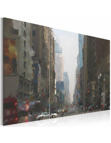 Tableau RAINY CITY BEHIND THE GLASS - par Artgeist