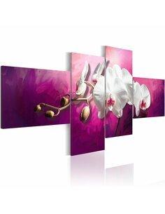 Tableau - 4 tableaux - Orchidées violettes - par Artgeist