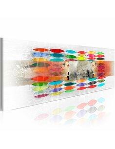 Tableau Panoramique - Colors in the mist - par Artgeist