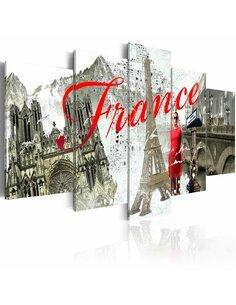 Tableau - 5 tableaux - Paris en vogue - par Artgeist