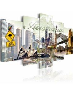 Tableau - 5 tableaux - Welcome to Australia! - par Artgeist