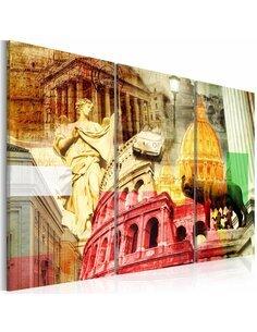 Tableau ROME CHARMANT Triptyque - par Artgeist