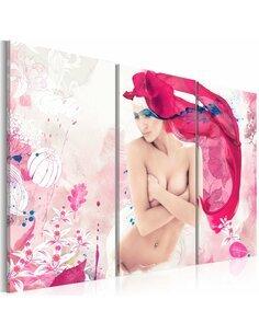 Tableau Triptyque - Fleur de la féminité - par Artgeist