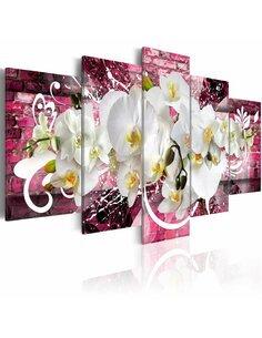 Tableau - 5 tableaux - Orchidée -variations - par Artgeist